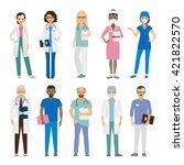 hospital medical team. medical...   Shutterstock .eps vector #421822570
