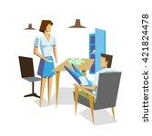 businessman and businesswomen... | Shutterstock .eps vector #421824478