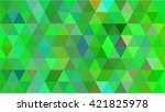 green triangle business... | Shutterstock .eps vector #421825978