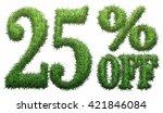 25  off. made of grass....   Shutterstock . vector #421846084