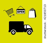 delivery service design  | Shutterstock .eps vector #421853713