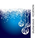 christmas background vector | Shutterstock .eps vector #42185656