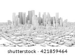 3d City Panorama Isolated On...