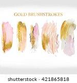 brush stroke of acrylic pink... | Shutterstock . vector #421865818