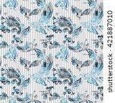 paisley seamless pattern.... | Shutterstock . vector #421887010