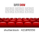movie theater with row of red... | Shutterstock .eps vector #421890550