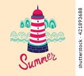 lighthouse   Shutterstock .eps vector #421893688