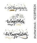 set of graduation stickers and  ... | Shutterstock .eps vector #421895824