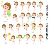 set of various poses of... | Shutterstock .eps vector #421896838
