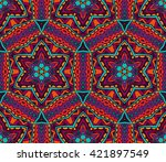 Abstract Ethnic Tiled Seamless...