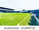 blurry of football field in... | Shutterstock . vector #421898713