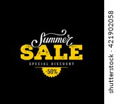 summer sale banner. vintage... | Shutterstock .eps vector #421902058