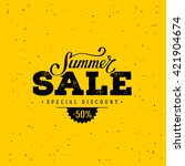 Summer Sale Banner. Vintage...