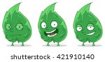 set of green pretty leafs | Shutterstock .eps vector #421910140