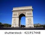 paris  france  september 18 ... | Shutterstock . vector #421917448