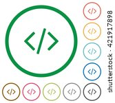 set of programming code color...
