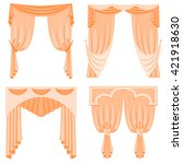 a set of curtains isolated on... | Shutterstock .eps vector #421918630