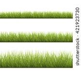3 backgrounds of green grass ... | Shutterstock . vector #421923730
