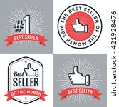 set of badges  banner  labels ... | Shutterstock .eps vector #421928476