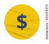 dark dollar icon label on... | Shutterstock .eps vector #421929373
