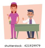 happy family with two kids... | Shutterstock .eps vector #421929979