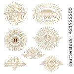 vintage logo template  hotel ... | Shutterstock .eps vector #421933300