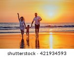 happy family   father  mother ... | Shutterstock . vector #421934593