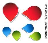 vector blue  green  red arrow... | Shutterstock .eps vector #421935160