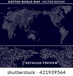 dotted world map illustration... | Shutterstock .eps vector #421939564