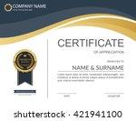 vector certificate template. | Shutterstock .eps vector #421941100