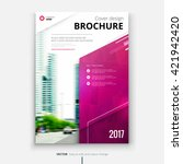 brochure design. corporate... | Shutterstock .eps vector #421942420