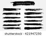 vector brush strokes.hand drawn ... | Shutterstock .eps vector #421947250