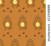 seamless cute animal pattern  ... | Shutterstock .eps vector #421948888