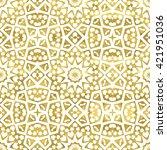 golden abstract arabic seamless ... | Shutterstock .eps vector #421951036