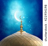 ramadan kareem background... | Shutterstock . vector #421954198