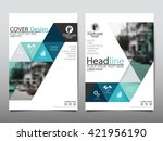 blue technology triangle annual ...   Shutterstock .eps vector #421956190