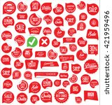 sale stickers and tags... | Shutterstock .eps vector #421959496