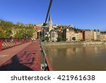 famous view of saone river and... | Shutterstock . vector #421961638