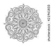 rose flower  floral mandala ... | Shutterstock .eps vector #421961833