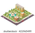 outdoor recreation in city... | Shutterstock .eps vector #421965499