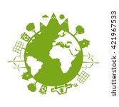 illustrations of concept earth... | Shutterstock .eps vector #421967533
