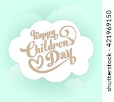 children's day vector... | Shutterstock .eps vector #421969150