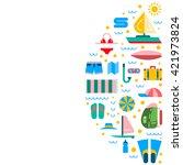 summer icons set for summer... | Shutterstock .eps vector #421973824