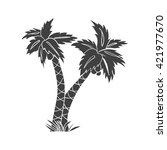 palm tree. palm tree vector....