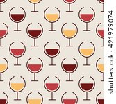 simple seamless pattern with... | Shutterstock .eps vector #421979074