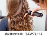 beauty  hairstyle and people... | Shutterstock . vector #421979443