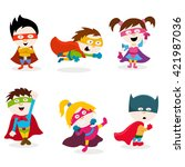 super kids | Shutterstock .eps vector #421987036