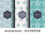 vector set of design patterns... | Shutterstock .eps vector #421989058