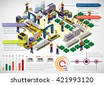illustration of info graphic... | Shutterstock .eps vector #421993120