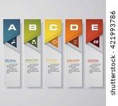 design clean number banners... | Shutterstock .eps vector #421993786